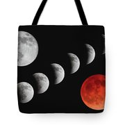 Blood Moon Of The Tetrad Tote Bag