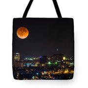 Blood Moon Over Downtown Tote Bag