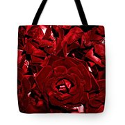 Blood Red Roses Tote Bag