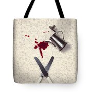 Bloody Dining Table Tote Bag