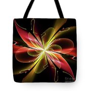 Bloom With Red Tote Bag