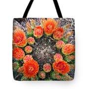 Blooming Barrel Cactus Tote Bag