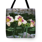Blooming By The Pond Tote Bag