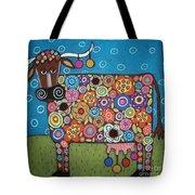 Blooming Cow Tote Bag by Karla Gerard