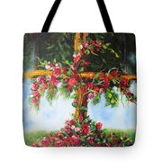 Blooming Cross Tote Bag