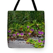 Blooming Cross Vines Along The Beach Tote Bag