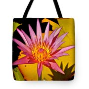 Blooming Lotus Flower Tote Bag