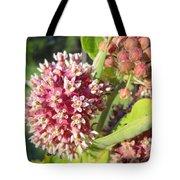 Blooming Milkweed Flowers Tote Bag
