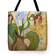 Blooming Orchids In The Vase Tote Bag