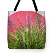 Blooming Spider Against Red Tote Bag