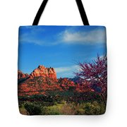 Blooming Tree In Sedona Tote Bag
