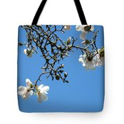 Blooming Trees Art Print White Magnolia Flowers Baslee Troutman Tote Bag