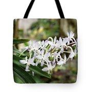 Blooming White Flower Spike Tote Bag
