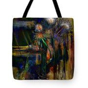 Blooms And Coils Tote Bag