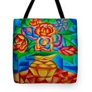 Blooms In Blue Tote Bag