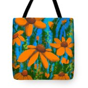 Blooms Of Orange Tote Bag