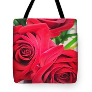 Blooms Of Red Tote Bag