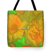 Blooms Yellow Tote Bag