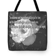 Blossom As The Rose Tote Bag