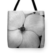 Blossom In Black And White Tote Bag