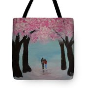 Blossoming Romance Tote Bag