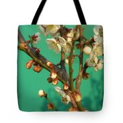 Blossoms Against Green Tote Bag