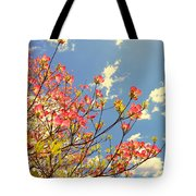 Blossoms Against The Sky Tote Bag