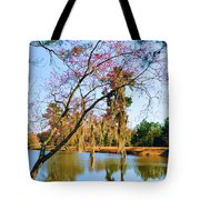 Blossoms And Spanish Moss Tote Bag