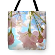 Blossoms Art Prints 52 Pink Tree Blossoms Nature Art Blue Sky Tote Bag