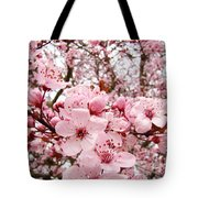 Blossoms Art Spring Pink Tree Blossom Floral Baslee Troutman Tote Bag