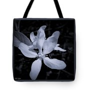 Blossoms In Black And White Tote Bag