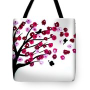 Blowing Blossoms Tote Bag