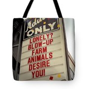 Blowup Farm Animals Sign Tote Bag