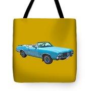 Blue 1971 Oldsmobile Cutlass Supreme Convertible Tote Bag