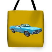 Blue 1971 Oldsmobile Cutlass Supreme Convertible Tote Bag