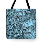Blue Abstract - Lionfish Tote Bag