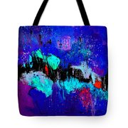 Blue Abstract 55698 Tote Bag