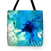 Blue Abstract Art - A Calm Energy - By Sharon Cummings Tote Bag