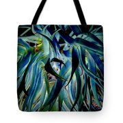 Blue Abstract Art Lorx Tote Bag