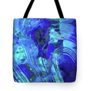 Blue Abstract Art - Reflections - Sharon Cummings Tote Bag