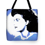 Blue - Abstract Woman Tote Bag