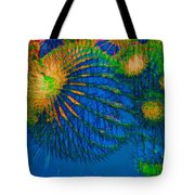 Blue Alien Mystery Tote Bag