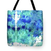 Blue And Aqua Abstract - Wishing Well - Sharon Cummings Tote Bag