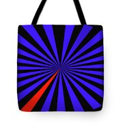 Blue And Black Abstract # 3 Tote Bag