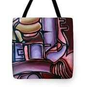 Blue And Blur Tote Bag