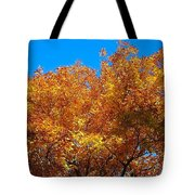 Blue And Gold Tote Bag