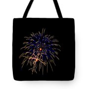 Blue And Gold Fireworks Tote Bag