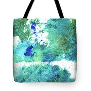 Blue And Green Abstract - Imagine - Sharon Cummings Tote Bag