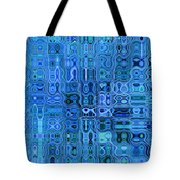 Blue And Green Quilt Tote Bag