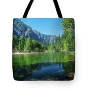 Blue And Green River Tote Bag